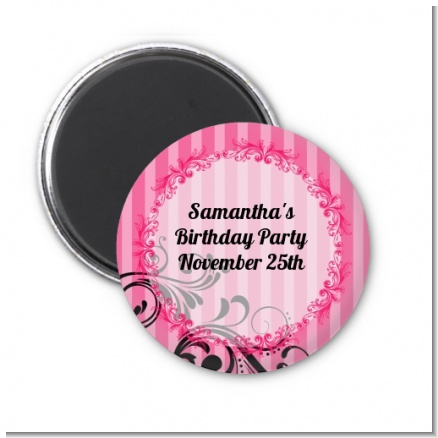 Juicy Couture Inspired - Personalized Birthday Party Magnet Favors