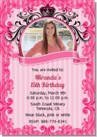 Juicy Couture Inspired - Birthday Party Invitations
