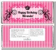 Juicy Couture Inspired - Personalized Birthday Party Candy Bar Wrappers thumbnail