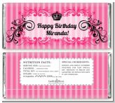 Juicy Couture Inspired - Personalized Birthday Party Candy Bar Wrappers
