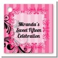 Juicy Couture Inspired - Personalized Birthday Party Card Stock Favor Tags thumbnail