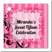 Juicy Couture Inspired - Personalized Birthday Party Card Stock Favor Tags