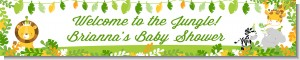 Jungle Party - Personalized Baby Shower Banners