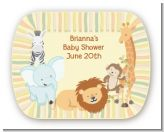 Jungle Safari Party - Personalized Baby Shower Rounded Corner Stickers