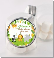 Jungle Party - Personalized Baby Shower Candy Jar