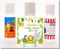 Jungle Party - Personalized Baby Shower Hand Sanitizers Favors