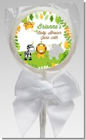 Jungle Party - Personalized Baby Shower Lollipop Favors