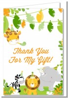 Jungle Party - Baby Shower Thank You Cards