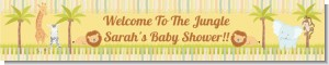 Jungle Safari Party - Personalized Baby Shower Banners