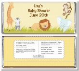 Jungle Safari Party - Personalized Baby Shower Candy Bar Wrappers
