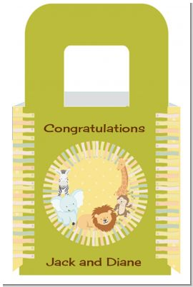 Jungle Safari Party - Personalized Baby Shower Favor Boxes