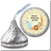 Jungle Safari Party - Hershey Kiss Baby Shower Sticker Labels