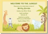 Jungle Safari Party - Baby Shower Invitations