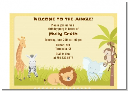 Jungle Safari Party - Birthday Party Petite Invitations