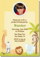 Jungle Safari Party - Photo Birthday Party Invitations