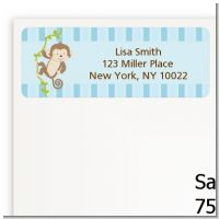 Monkey Boy - Baby Shower Return Address Labels
