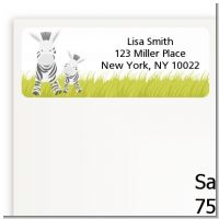 Zebra - Baby Shower Return Address Labels