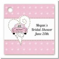 Just Married - Personalized Bridal Shower Card Stock Favor Tags