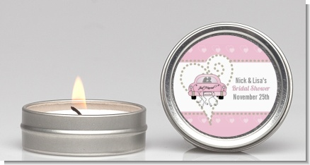 Just Married - Bridal Shower Candle Favors