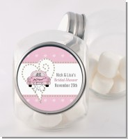Just Married - Personalized Bridal Shower Candy Jar