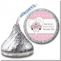 Just Married - Hershey Kiss Bridal Shower Sticker Labels