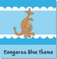 Blue Kangaroo Baby Shower Theme