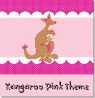 Pink Kangaroo Baby Shower Theme