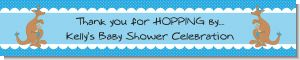 Kangaroo Blue - Personalized Baby Shower Banners
