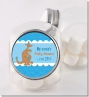 Kangaroo Blue - Personalized Baby Shower Candy Jar