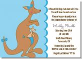 Kangaroo Blue - Baby Shower Invitations