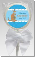 Kangaroo Blue - Personalized Baby Shower Lollipop Favors