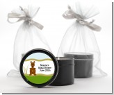 Kangaroo - Baby Shower Black Candle Tin Favors