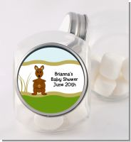 Kangaroo - Personalized Baby Shower Candy Jar