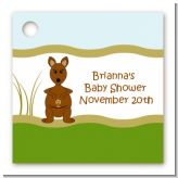 Kangaroo - Personalized Baby Shower Card Stock Favor Tags