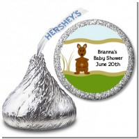 Kangaroo - Hershey Kiss Baby Shower Sticker Labels