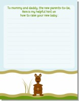 Kangaroo - Baby Shower Notes of Advice