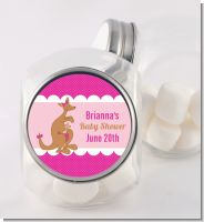 Kangaroo Pink - Personalized Baby Shower Candy Jar