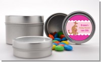 Kangaroo Pink - Custom Baby Shower Favor Tins
