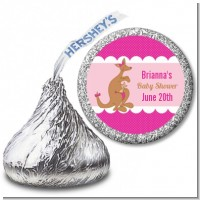 Kangaroo Pink - Hershey Kiss Baby Shower Sticker Labels