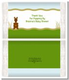 Kangaroo - Personalized Popcorn Wrapper Baby Shower Favors