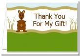 Kangaroo - Baby Shower Thank You Cards