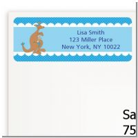 Kangaroo Blue - Baby Shower Return Address Labels