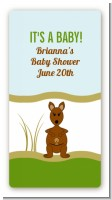 Kangaroo - Custom Rectangle Baby Shower Sticker/Labels