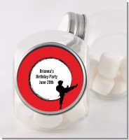Karate Kid - Personalized Birthday Party Candy Jar
