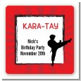 Karate Kid - Square Personalized Birthday Party Sticker Labels thumbnail