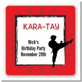 Karate Kid - Square Personalized Birthday Party Sticker Labels