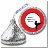 Karate Kid - Hershey Kiss Birthday Party Sticker Labels