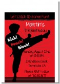 Karate Kid - Birthday Party Petite Invitations