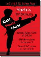 Karate Kid - Birthday Party Invitations