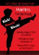 Karate Kid - Birthday Party Invitations thumbnail